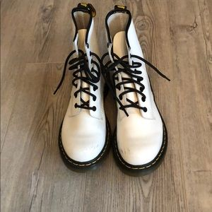 White Dr. Martens Airwair Boots Size 8